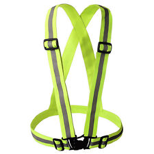 Adjustable Safety Security High Visibility Reflective Vest Stripe Belt Jacket ZY