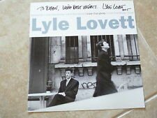 Lyle Lovett Signed Autographed 12x12 I Love Everybody LP Album Poster Flat