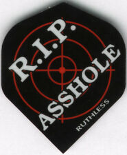 """R.I.P ASS****"" RUTHLESS Dart Flights: 3 per set"