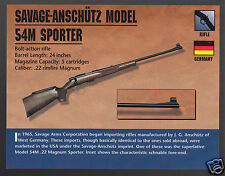 SAVAGE-ANSCHUTZ MODEL 54M SPORTER .22 Rifle Gun Classic Firearms PHOTO CARD
