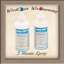 Stick Fast 5 Minute 9 oz Epoxy Glue Kit Wood Turning Woodturning US Seller