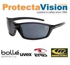 NEW Bolle Prowler Safety Glasses Gloss Black Frame Smoke Lens Sunglasses