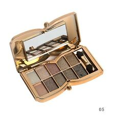 10 Colors Diamond Eyeshadow Eye Shadow Palette Makeup Cosmetic Brush Set