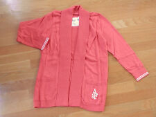 NWT Abercrombie & Fitch Johanna Cardigan Sweater Open Front Coral Medium