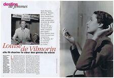 COUPURE DE PRESSE CLIPPING 1997 LOUISE DE VILMORIN   (6 pages)