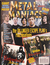 Metal Maniacs Magazine - The Dillinger Escape Plan November  2004  Free US S/H