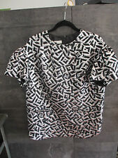 Dries Van Noten black silver evening top size 36 (runs full) madden Belgium