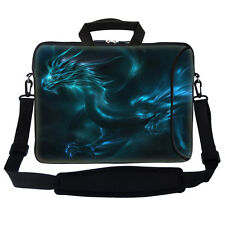 "17.3"" 17"" Neoprene Laptop Bag Sleeve with Pocket Shoulder Strap Handle 2735"
