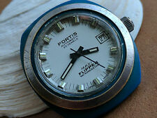 Vintage Fortis Maxi Flipper Divers Watch w/Silver Dial,Blue Case,Automatic Mvmt