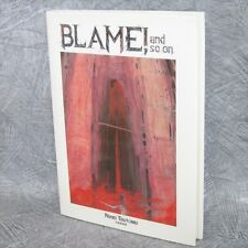 TSUTOMU NIHEI Gashu BLAME AND SO ON Art Illustration Book KO*