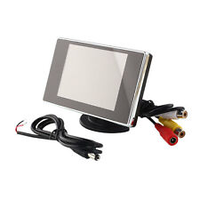 "3.5"" TFT LCD Car Rear View Monitor Color Screen DVD For Backup Camera 12V"