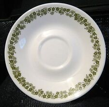 Lovely china Saucer in Olive and white pattern approx 6.25ins diameter