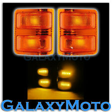 F250+F350+F450+F550 Super Duty 2008-2015 Side Mirror Light AMBER LED+Lens FORD