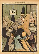 """Le Rire-stampa a colori da 1900 """"Journal de la Sante DU ROY"""""""