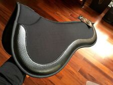 Equifit ImpacTEQ half Pad Black Ostrich English tack, dressage, show jumping wow