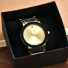 Stainless Steel Watche Men Fashion Women Analog Quartz Movement Wrist Watch GOLD