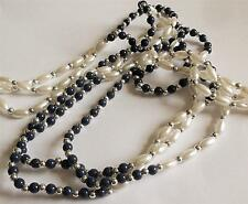 MULTI STRAND PEARL BLUE BEAD NECKLACE