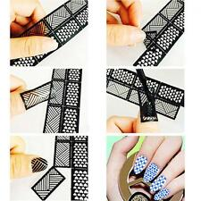 Fashion DIY Reusable Hollow Stamping Template Stencil Stamp Nail Art Stickers