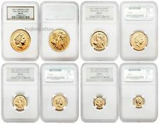 Great Britain 2001 Britannia (Una and the Lion) 4 pc 1.85 oz Gold NGC MS-66 Set
