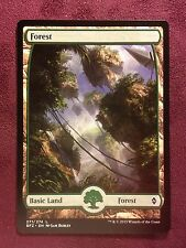 Battle for Zendikar Full Art Land  Forest #271  VO  -  MTG Magic (Mint/NM)