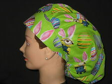 Surgical Scrub Hats caps  Easter eggs and Minions Bunnies