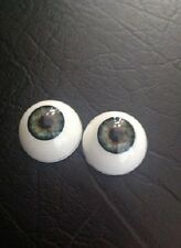 22mm Green REBORN DOLL EYES,HALF ROUND ACRYLIC, FREE SHIPPING
