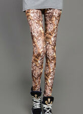 Suave Tiger Collage Leggings Talla 8 - 12 Uk, Gato, Animal, Jungla, impresión, Leopardo