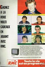 Publicité advertising 1988 Radio RMC avec Childéric
