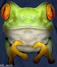 Giant Frog XL HEAT PRESS TRANSFER for T Shirt Sweatshirt Tote Quilt Fabric  260o