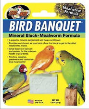 ZOO MED BIRD BANQUET MEALWORM MINERAL BLOCK SMALL CHEW BONE FREE SHIP USA