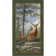 Quilting Treasures ~ Deer Mountain Bucks ~ 100% Cotton Quilting Fabric Panel