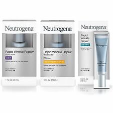 Neutrogena Rapid Wrinkle Repair Day (SPF30) AND Night Moisturizers AND Eye Cream