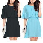 Plus Size 8-24 Women Sexy Casual Batwing Sleeve Evening Party Beach Summer Dress