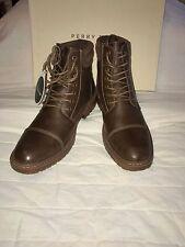 PERRY ELLIS AMERICA 'CAPTAIN' Men's Ankle Brown Boots  Sz. 8.5 M  NIB