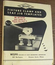 WESPO: Fixture Clamp and Leaf Jig Templates Catalog With 1963 Price List