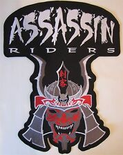Rare Large Assassin Riders Bike Motorcycle Biker Embroidered Sew On Badge Patch