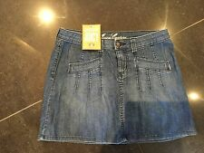 "NWT Juicy Couture New & Genuine Ladies Denim Cotton Skirt 27"" Waist With Logo"
