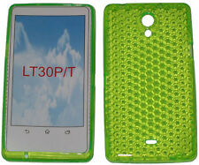 Soft Pattern Gel Case Protector Cover For Sony Xperia T LT30P LT30i Green UK