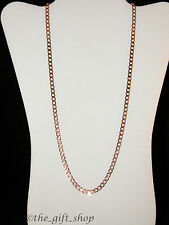 BEAUTIFUL WOMANS 14K ROSE GOLD FILLED 24'' CURB CHAIN 85ct BRAND NEW #CRG3A-B