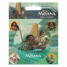 MOANA SHEET OF 5 VINYL STICKERS FILM DISNEY FILM OCEANIA MAUI VAIANA HEI HEI