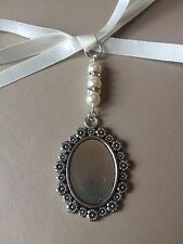 Bridal Bouquet Floral Oval Photo Frame Memory Charm Wedding Swarovski Beads