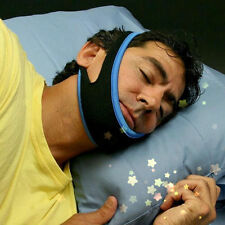 Stop Snoring Chin Strap Snore Belt Anti Apnea Jaw Solution Sleep TMJ Support E#