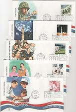 US FDC Celebrate the Century 1950s Korean War I Love Lucy Baseball 15 Covers |