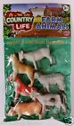 Farm Animals Toy Figures Country Life Plastic Assorted Toys-Cow Horse Dog NEW