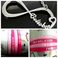 a set of (10+1) Belieber JB Justin Bieber Infinity Necklace wristband bracelet