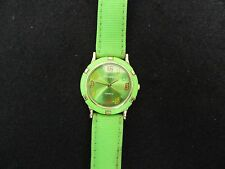Panther Quartz Watch - Green with a Green Band / The band is worn but usable