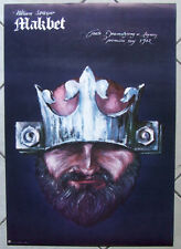 Macbeth -  Shakespeare - Polish theater Poster