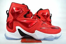 NEW Nike LeBron XIII 13 ON COURT UNIVERSITY RED 807219-610 sz 8.5 USA WHAT THE