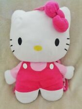 "Hello Kitty Backpack Purse 2011 Sanrio Stuffed Plush 15"" White Cat Pink outfit"
