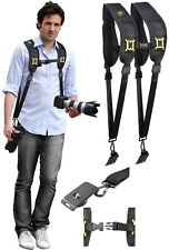 Dual Shoulder Camera Neck Strap With Quick Release For Panasonic Lumix DMC-FZ47K